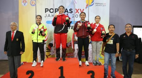 DKI Jakarta dan Jawa Barat Raih Emas Pertama Cabor Karate POPNAS 2019