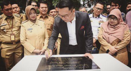 Gubernur Jabar Resmikan Beberapa Taman di Kota Bandung