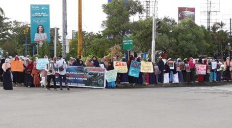 Ponpes Shuffah Hizbullah Samarinda Gelar Aksi Damai untuk Uighur