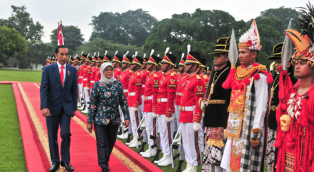 Jokowi Bertemu Presiden Singapura Halimah di Istana Bogor