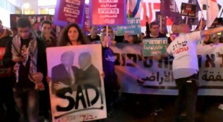"""Ratusan Warga Israel Unjuk Rasa Tolak """"Kesepakatan Abad Ini"""""""