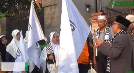 Lebih 15 Regu Muslimah Ikuti Long March Cinta Al-Aqsa Tasikmalaya