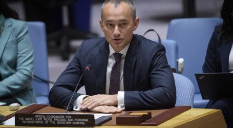 Nickolay Mladenov: Langkah Sepihak Tidak Selesaikan Konflik