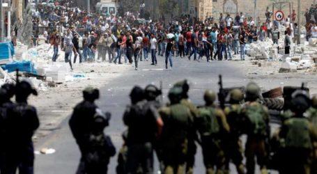 Bentrokan Warga Palestina dan Israel di Seluruh Yerusalem