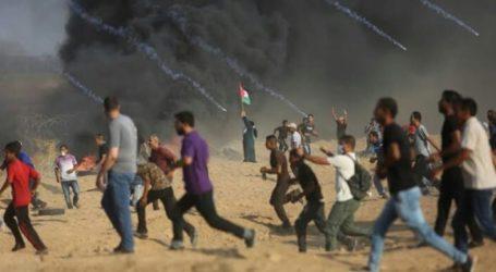 Pemuda-Pemuda Palestina Paksa Pasukan Israel Hengkang