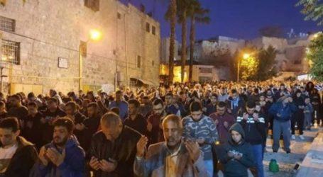 Umat Muslim Yordania Lanjutkan Subuh Agung Dukung Palestina
