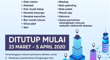 DKI Jakarta Tutup Lokasi Hiburan Mulai 23 Maret Hingga 5 April