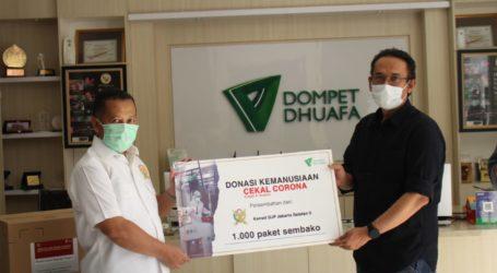ASN Kanwil DJP Jaksel II Donasikan 1.000 Paket Sembako