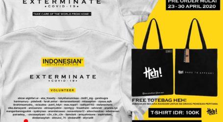 Selebgram se Indonesia Jual Kaos untuk Bantu Penangan Covid 19