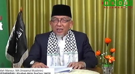 Khutbah Akhir Sya'ban, Imaam Yakhsyallah Mansur : Puasa dan Sabar Bekal Hadapi Corona