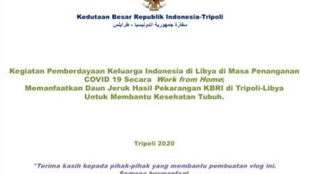 KBRI Tripoli Proaktif Bersama WNI Cegah COVID-19
