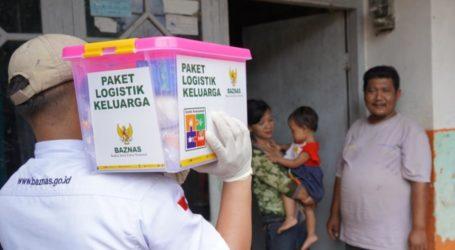 BAZNAS Bagikan Paket Logistik Keluarga