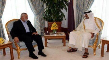 Haniyeh Adakan Pembicaraan Telepon dengan Emir Qatar dan Sekjen. Liga Arab