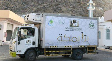 Masjidil Haram dan Nabawi Distribusikan Paket Bukber ke Rumah Warga