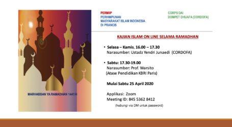 Masyarakat Islam Indonesia di Perancis Ikuti Kajian Online Saat Ramadhan