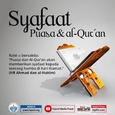 Renungan Ramadhan H12 : Syafaat Puasa dan Al-Quran