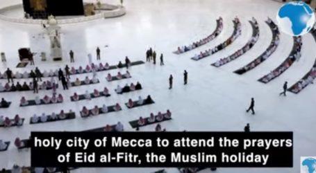 Shalat Idul Fitri di Masjidil Haram dan Nabawi dengan Pembatasan