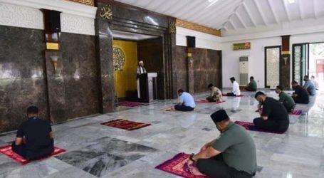 Jokowi Shalat Jumat di Masjid Istana Bogor Ikuti Protokol Kesehatan
