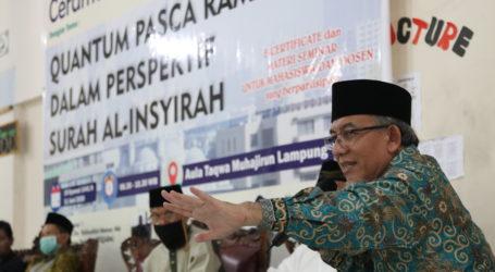 Yakhsyallah Mansur: Inspirasi Surah Al-Insyirah, Muslim Harus Lakukan Lompatan Besar