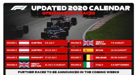 Balapan F1 2020 Bergulir Mulai 5 Juli di Spielberg, Austria