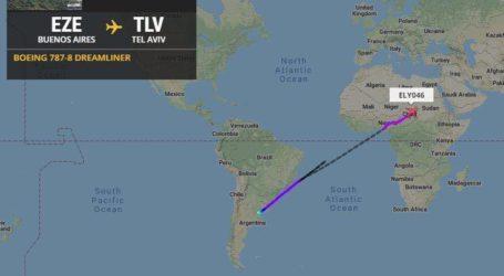Pertama Kali Pesawat Komersial Israel Lintasi Wilayah Udara Sudan
