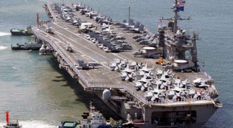 Tiga Kapal Induk AS Bawa Ratusan Jet Tempur Tiba di Laut China Selatan