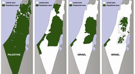 Peta Pendudukan Israel di Palestina dari Masa ke Masa