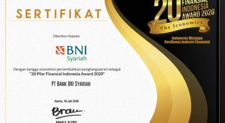 BNI Syariah Raih Penghargaan 20 Pilar Finansial Indonesia Award 2020