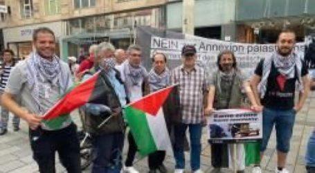 Aktivis Palestina-Austria Protes Rencana Aneksasi Israel