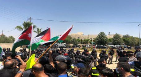 Demo Dekat Kedubes AS di Amman Tolak  Aneksasi