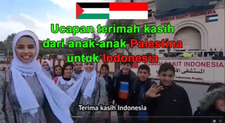 [Video] Ucapan Terima Kasih Anak-Anak Palestina Untuk Indonesia – RS Indonesia – MER-C