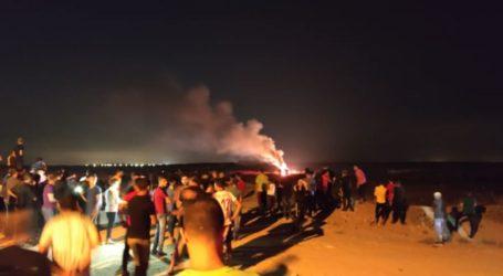 Aksi Protes Malam di Gaza, Empat Pemuda Terluka