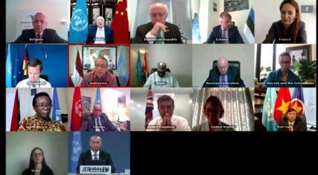 Pimpin DK PBB, Indonesia Tegaskan Rencana Israel Aneksasi Palestina Harus Dibatalkan