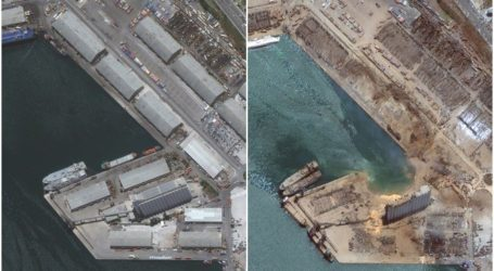 Foto Satelit Sebelum dan Sesudah Ledakan Pelabuhan Beirut
