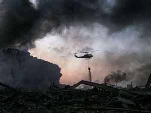 Lokasi Ledakan di Pelabuhan Beirut Seperti Lanskap Pascanuklir