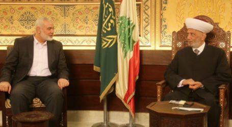 Haniyah Bertemu Mufi Agung Lebanon