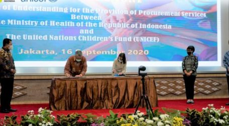 Kemenkes-UNICEF MoU Pengadaan Vaksin Covid-19 Harga Terjangkau