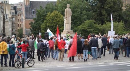 Puluhan Aktivis Belanda Unjuk Rasa Tuntut Akhiri Blokade Gaza