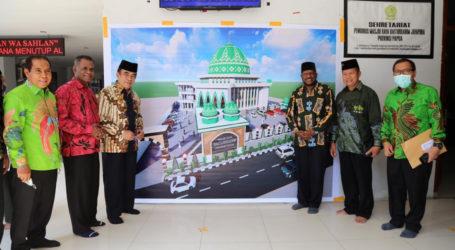 Menag Tinjau Pembangunan Masjid Raya dan Asrama Haji Di Jayapura