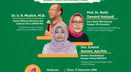 Kriteria Keamanan Pangan Jadi Syarat Sertifikasi Halal