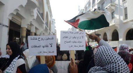 Warga Maroko Unjuk Rasa Tolak Normalisasi dengan Israel