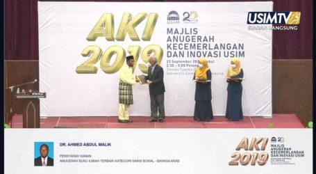Buku Karya Dr. Abdul Malik Raih Anugerah Buku Ilmiah Terbaik dari USIM