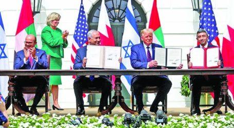 UEA dan Bahrain Resmi Tandatangani Perjanjian Normalisasi dengan Israel