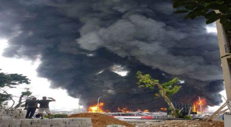 Kebakaran Besar Terjadi di Pelabuhan Beirut