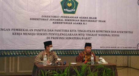Kemenag Adakan Pembekalan untuk Panitia MTQN ke-28 di Padang