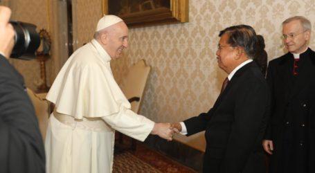 JK Bertemu Paus Bicara Persaudaraan Kemanusiaan