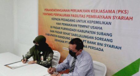 BNI Syariah Salurkan Pembiayaan ke UMKM Pasar Bandung dan Subang