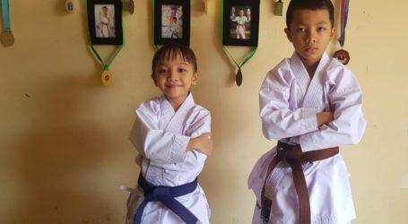 Zahran dan Zahira Juarai Kejuaraan Karate Virtual di Brazil