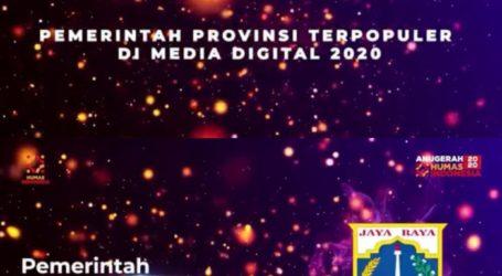 DKI Jakarta Raih Penghargaan Provinsi dan Gubernur Terpopuler di Media Digital 2020