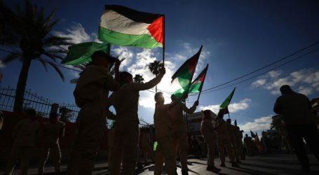 Warga Palestina Gelar Aksi Solidaritas Korban Gempa Turki